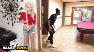 BANGBROS - Young, Skinny White Girl Elsa Jean Taking BBC From Burglar
