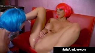Rowdy Sex Robots Julia Ann & Jessica Jaymes Scissor Suck N Fuck Their Cunts