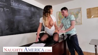 naughty america – cherie deville gives it to her student in the classroom