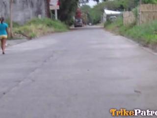 TRIKEPATROL Two Asian Friends Share Tourist Big Cock
