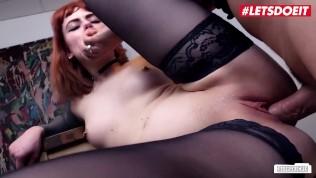 LETSDOEIT - Kinky RedHead Secretary Fucked Hard By Her Mature Boss
