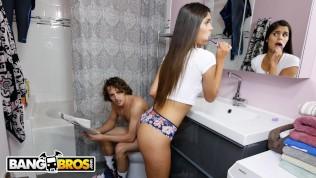 BANGBROS - Brunette Latin Teen Katya Rodriguez Taking A Pounding From Tyler