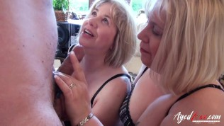 AgedLovE Three Ladies Occupying Cock