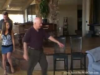 Old/wife swinger is brunette babe
