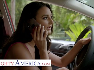 naughty america sofia (eliza ibarra) plays with her best friends dad