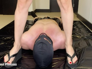 Slave Wins Pissed On Plus Drinks My Piss | Little Foot Princess