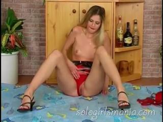 SOLOGIRLSMANIA Skinny School girl upskirt masturbation