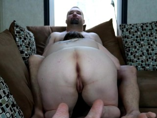 Dirty Down South- Chubby Wife Gets Plowed On the Couch and Gets Creampied