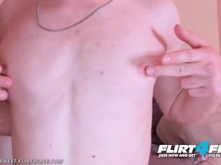 Flirt4Free - Casper Sweet - College Twink Skips Class to Jerk Off His Cock