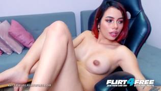Flirt4Free - Katt Fields - Sexy College Goddess Spreads Her Perfect Pussy