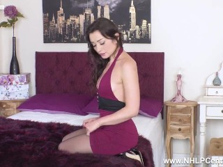 sexy latina babe valentina bianco toys wet pussy in sheer black pantyhose
