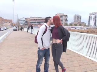 AmateurEuro - Hot Redhead Pornstar Fucked To Climax By Lucky Amateur Stud
