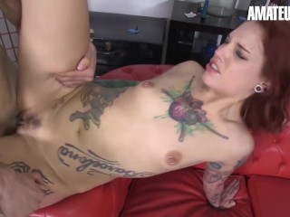 AmateurEuro – Roasting hot Red head Pornstar Banged To Climax By Lucky Teen amateur Stud