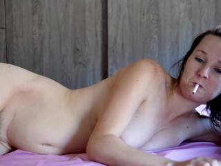 Beauty Gets Creampied and Fucked While Smoking