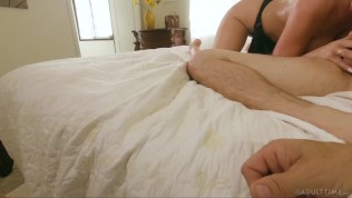 adult time cheating horny wife caught & cucks you with huge creampie
