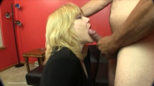 Friend records me giving this MILF an anal creampie