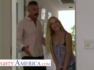 naughty america - emma starletto teases her friend's dad