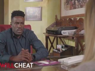 SheWillCheat - Big tit blond Kenzie Taylor cheats with big black dick