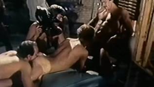 J.W. King in Huge Orgy from Joe Gage's CLOSED SET (1980)