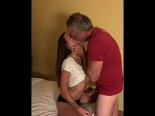 Hot college girl hotel fuck and facial Pt. 1