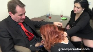 Redhead Maid Gets Fucked at Work