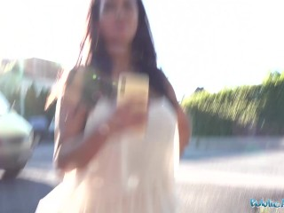 Public Agent Chloe Lamour gets her big tits jizzed on for cash