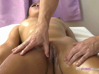 slender thai attractive whore massaged and smashed in delighted finishing therapeutic massage