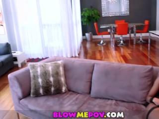Blow Me POV - Beautiful Black Girl Sucking cocks