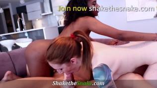 Shake The Snake - Ginger & Black Girl Insane 3some