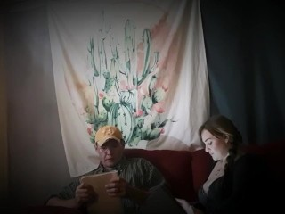 Step dad does 2nd practice interview with step daughter for blow job queen!