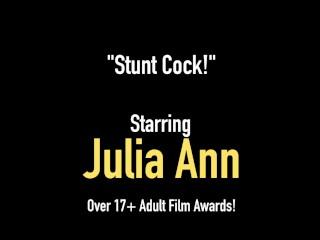 Busty Blonde Milf Julia Ann Mouth Fucks A Rock Hard Dick & Gets Some Cum!