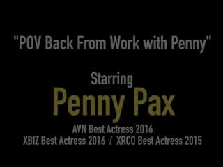 Redhead Penis Pleasuring Penny Pax Spits, Licks, Sucks & Fucks A Hard Cock!
