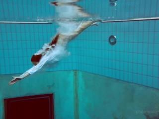 Underwater swimming pool erotics big tits Lola