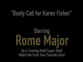Curvy Mature Cougar Karen Fisher Spreads Muff For Big Black Cock Rome Major