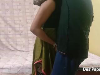 indian desi bhabhi with her husband in risky indoor bedroom sex
