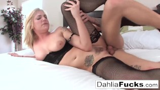 Hard sex on a bed with Sky and Richie