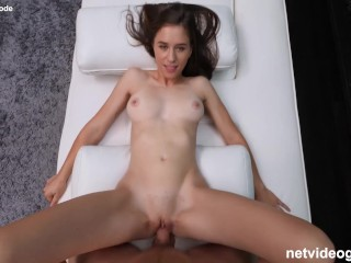 Spinner With Nice Tight Pussy Gets A Pounding During Her Calendar Audition
