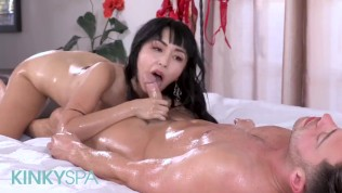 Kinky Spa - Small tit spinner Asian masseuse Marica Hase gives full service