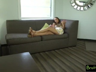 bratty sis - catching step-brother with a boner s11:e4