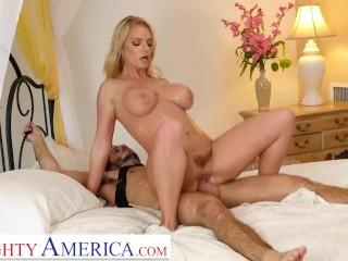 naughty america – rachael cavalli plays with a son's good friend