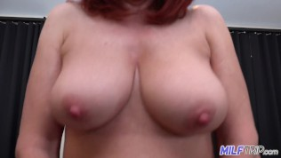 MILFTRIP Huge Tit Red Head MILF Deep Throats Neighbor