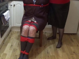 Man in school uniform bound and gagged all night - part 1 of 9 cam 1