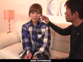 Perfect scenes of home sex with naked Rinka Aiuchi