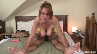 she finding milf playing with her boyfriend's big cock