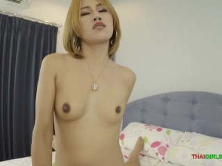 white-skinned thai babe bitch messy cock sucking and hole pussy filling