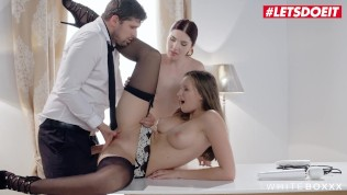 LETSDOEIT - Kinky Wife Ties the Maid And Lets Her Husband Ass Fuck Her