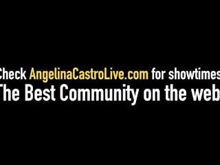 Huge Boobed Cuban Angelina Castro & Thick Milf Sara Jay Fuck Big Black Coc