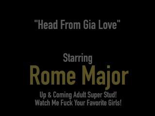 Hot White Cracker Gia Love Gets Black Bull Cock Rome Major's Dark Dick!
