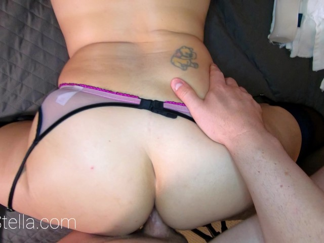 ANAL LOVING PETITE MILF ON LINGERIE AND HEELS GETS ASS FUCKED BY STEP SON