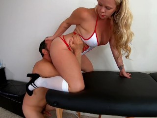 Naughty Nurse Check Up Turns Into Her Full Exam. Lubed Anal Fucking.